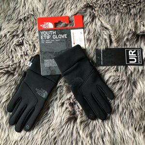 "THE NORTH FACE KIDS ""E-TIP"" GLOVES-NEW WITH TAGS"